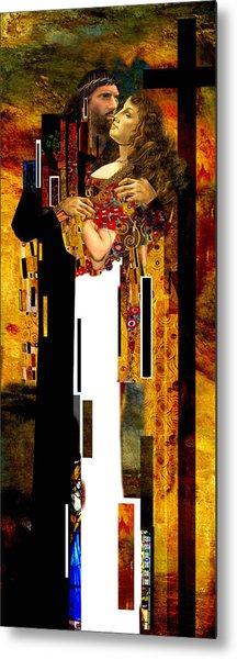 The Kiss     Christ And Maria Magdalena Metal Print
