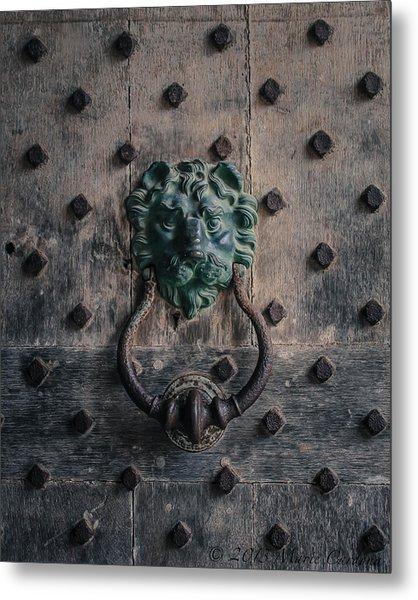 The Knocker At Leeds Castle Metal Print by Marie  Cardona