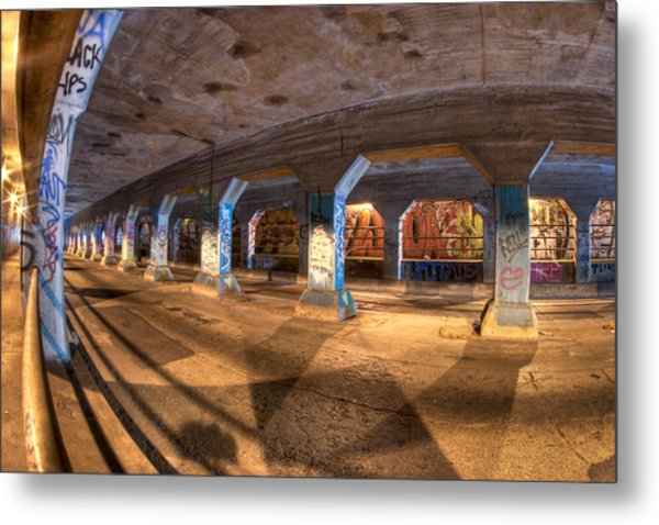 The Krog Street Tunnel Metal Print
