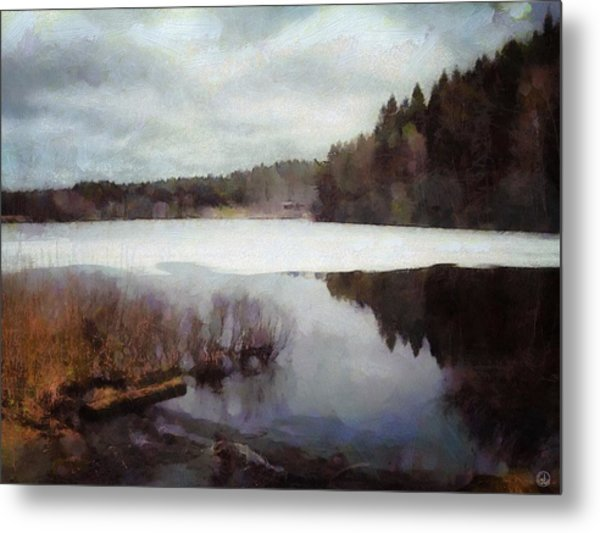 The Lake In My Little Village Metal Print by Gun Legler