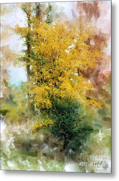 The Lake Trees Metal Print