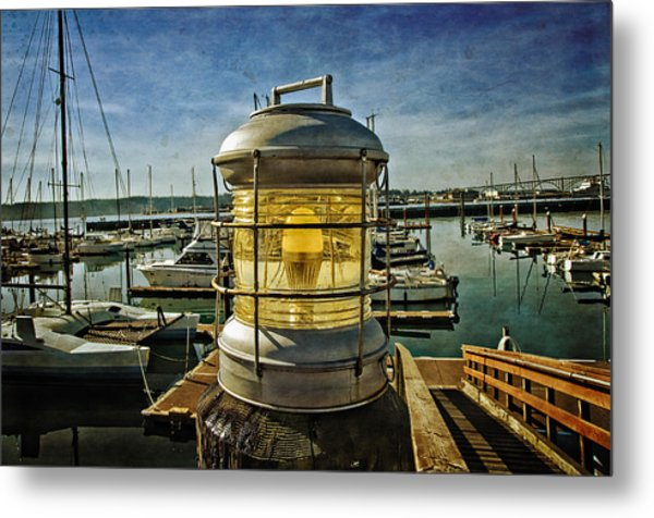 The Lamp At Embarcadero  Metal Print