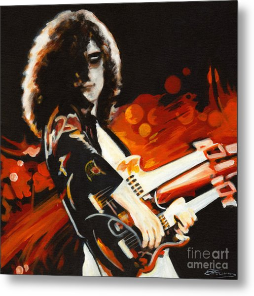 Stairway To Heaven. Jimmy Page  Metal Print