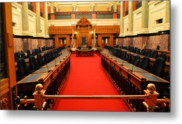 The Legislature Victoria Bc Metal Print