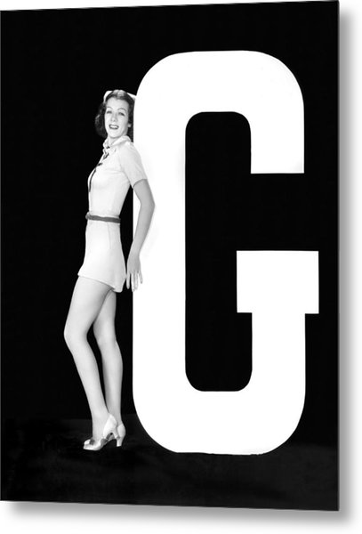 The Letter g And A Woman Metal Print