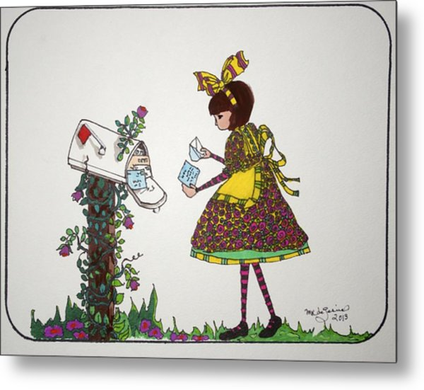 The Letter Metal Print by Mary Kay De Jesus