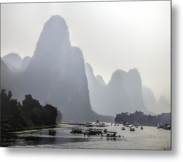 The Li River China Metal Print