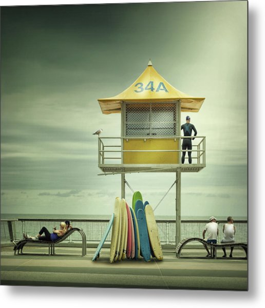 The Life Guard Metal Print by Adrian Donoghue