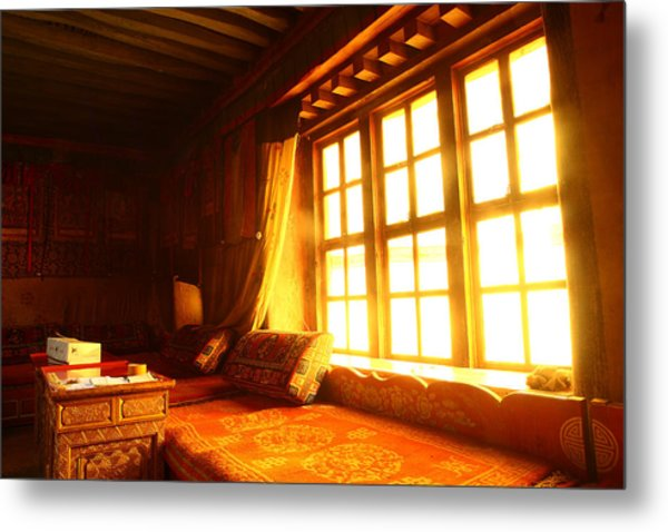 The Light And The Believer's Window Metal Print