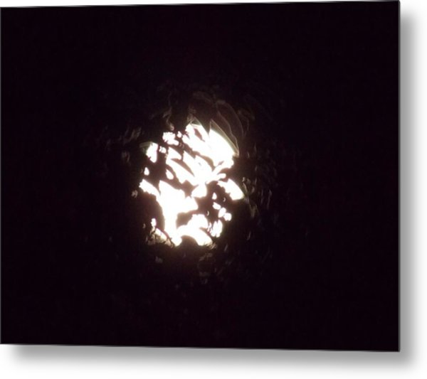 The Light Shining Through A Dark World Metal Print