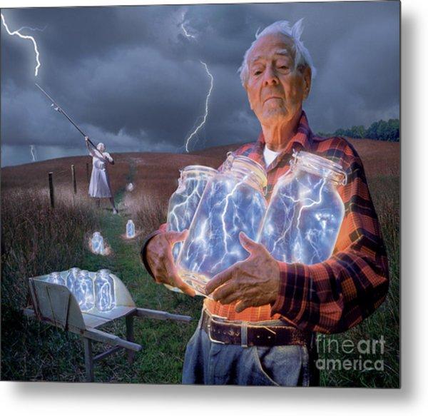 The Lightning Catchers Metal Print by Bryan Allen