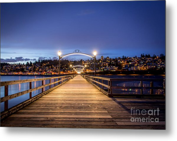 The Lights Of White Rock Beach - By Sabine Edrissi Metal Print