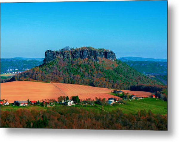 The Lilienstein Metal Print