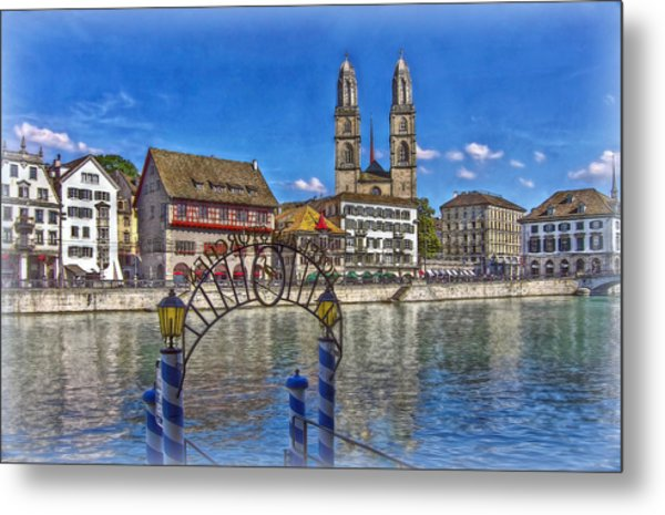The Limmat City Metal Print