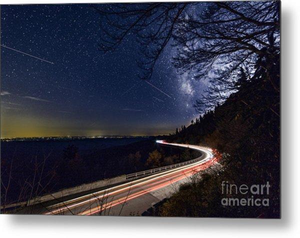The Linn Cove Viaduct Milky Way Metal Print