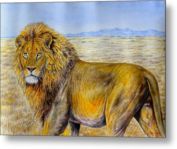 The Lion Rules Metal Print
