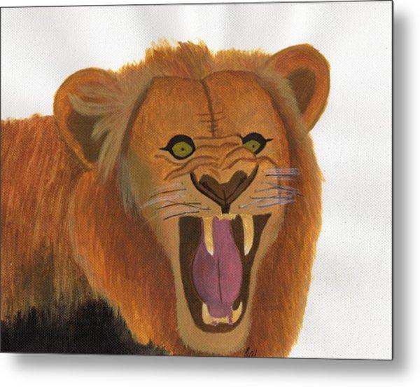The Lion's Roar Metal Print by Bav Patel