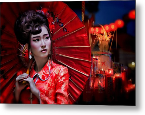 The Little Girl From China Metal Print