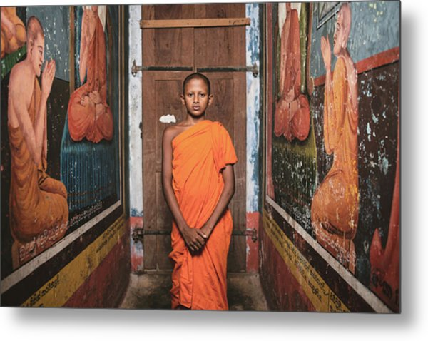 The Little Monk Metal Print