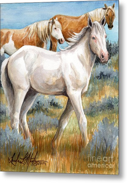 Metal Print featuring the painting The Little Princess by Linda L Martin