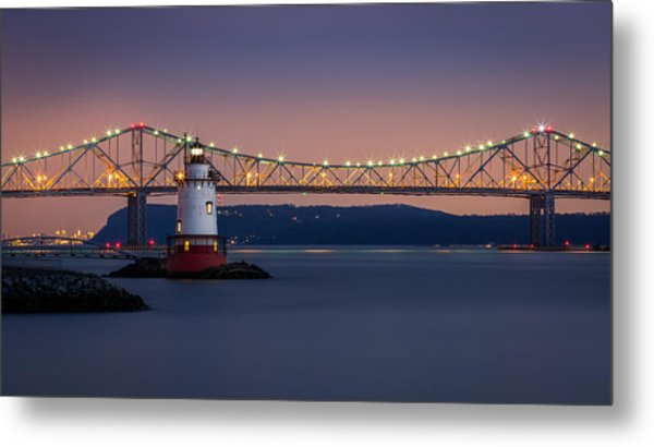 The Little White Lighthouse Metal Print