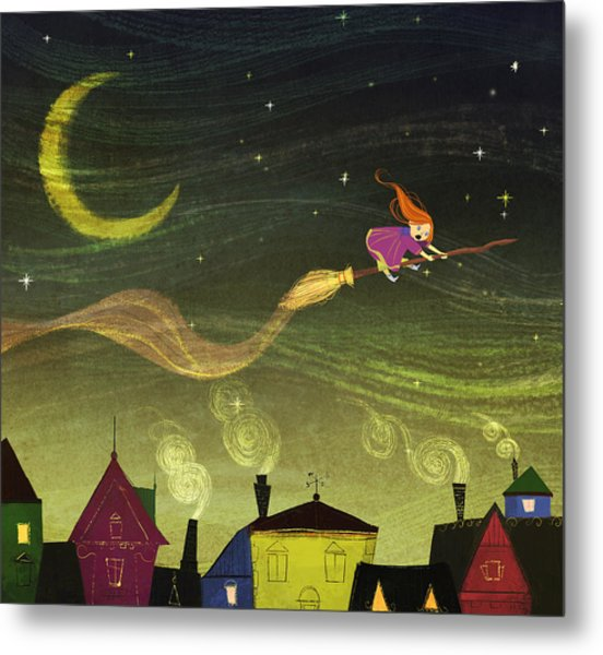 The Little Witch Metal Print