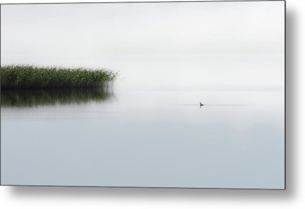 The Lone Fisher Metal Print