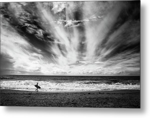 The Loneliness Of A Surfer Metal Print