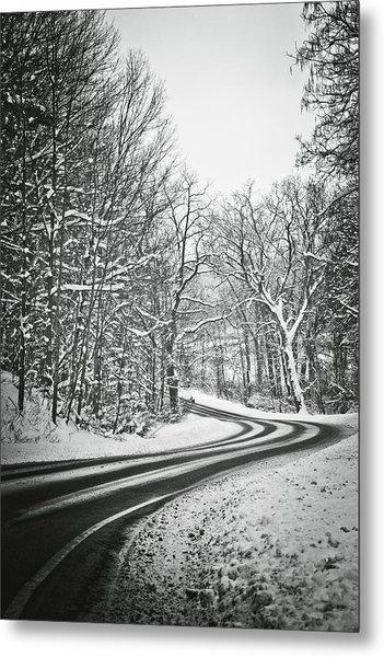 The Long Road Of Winter Metal Print