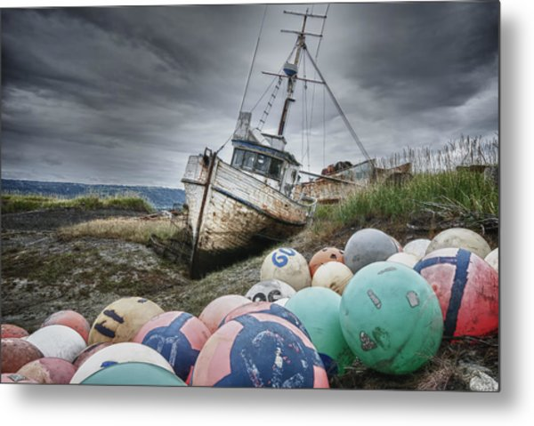 The Lost Fleet Grounded Metal Print