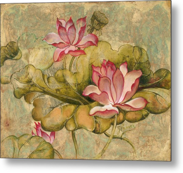 The Lotus Family Metal Print