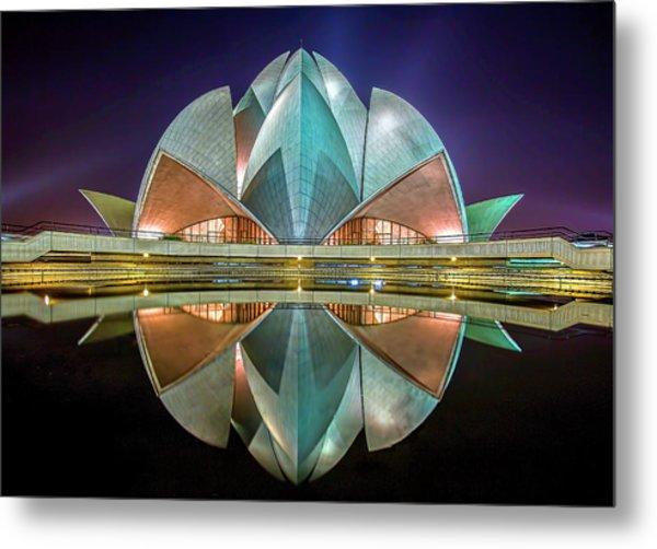 The Lotus Temple Metal Print