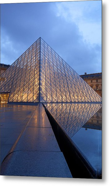 The Louvre Paris Metal Print