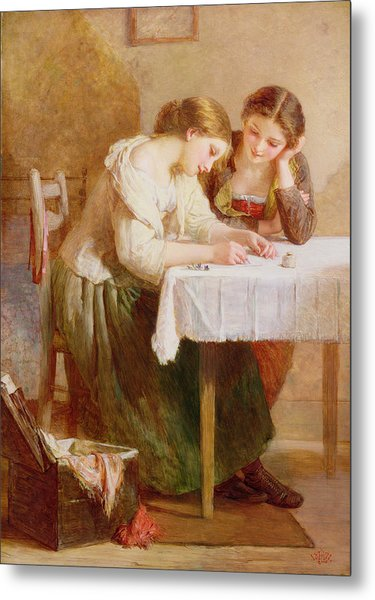 The Love Letter, 1871 Metal Print