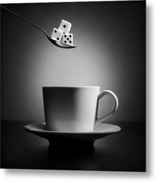 The Lucky Cup Of Coffee (version 2) Metal Print by Victoria Ivanova