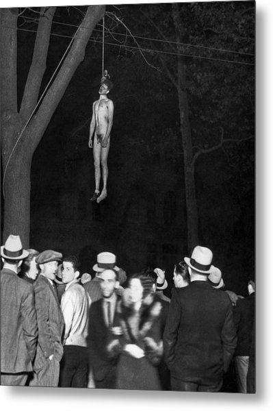 The Lynching Of A Murderer Metal Print