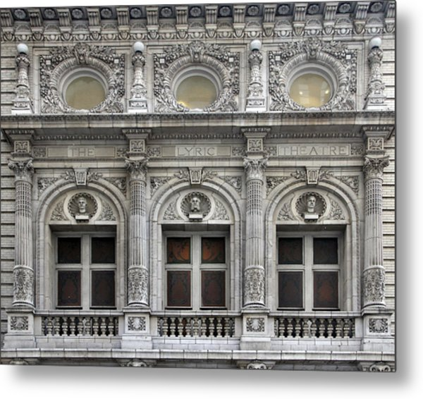 The Lyric Theatre In New York Metal Print