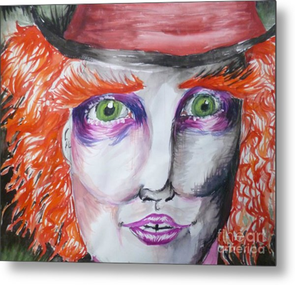 The Mad Hatter Metal Print by Isobelle Rothery-Smith