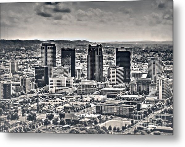 The Magic City Bw Metal Print