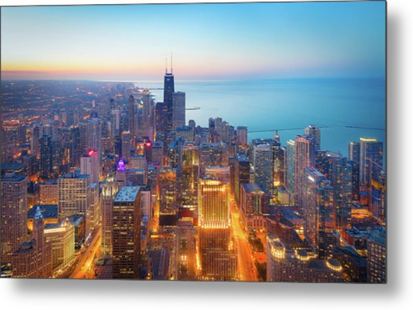 The Magnificent Mile Metal Print
