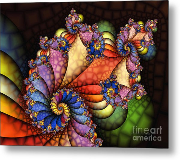 The Maharajahs New Hat-fractal Art Metal Print