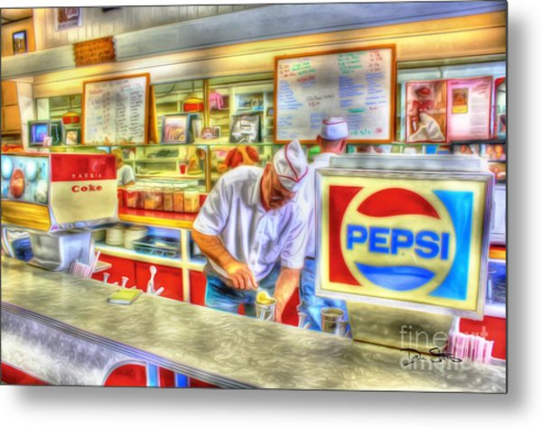 The Malt Shoppe Metal Print