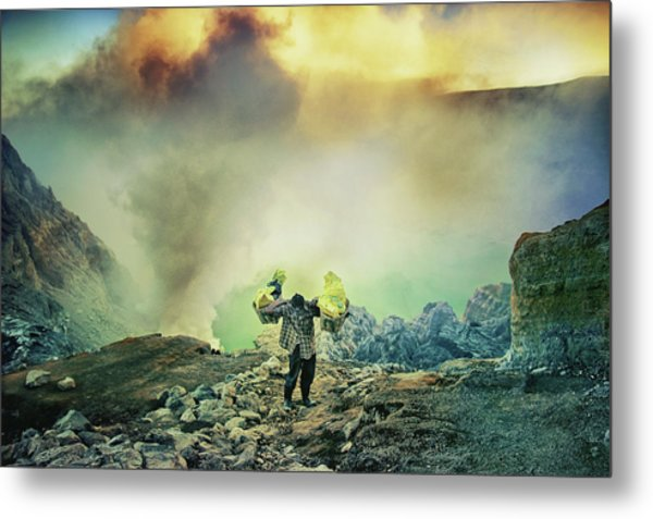 The Man From Green Crater Metal Print