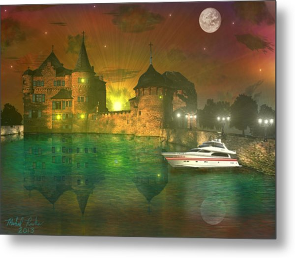 The Mansion Metal Print by Michael Rucker