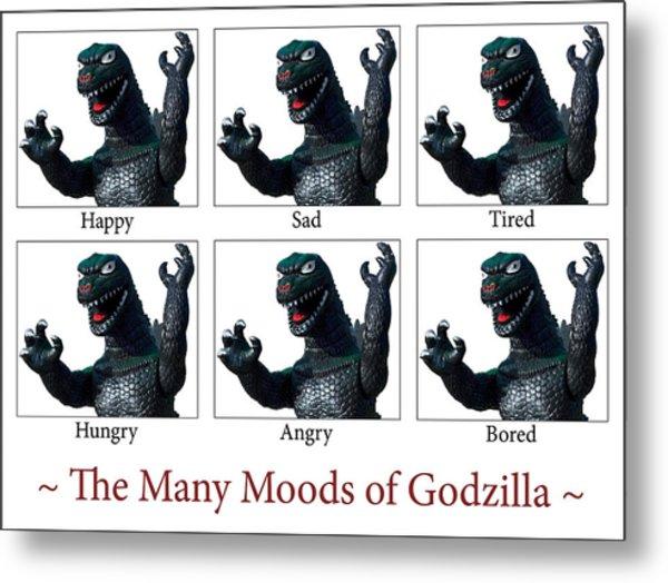 The Many Moods Of Godzilla Metal Print by William Patrick
