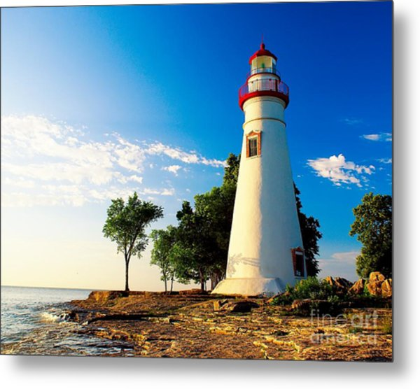 The Marblehead Light Metal Print