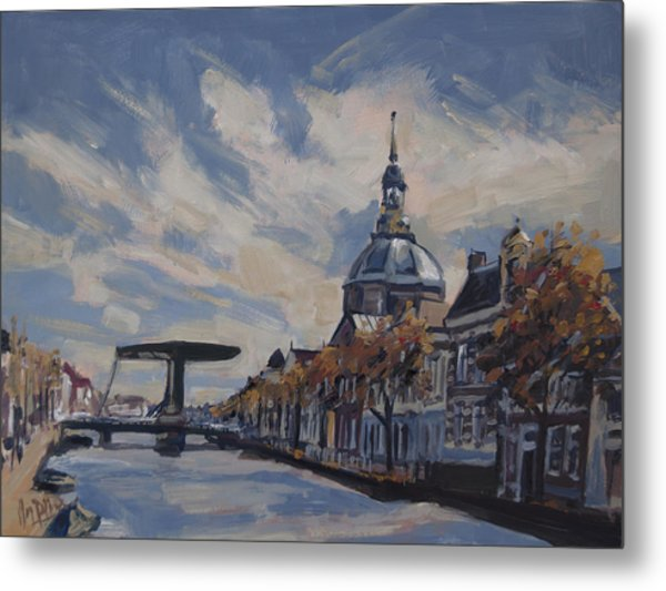 The Mare Church And Mare Bridge Leiden Metal Print