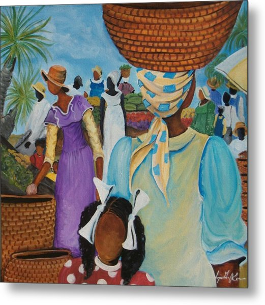 The Market Place Metal Print by Sonja Griffin Evans