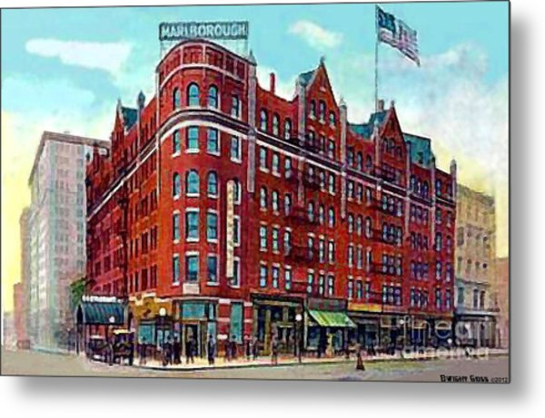 The Marlborough Hotel In New York City In 1909 Metal Print by Dwight Goss