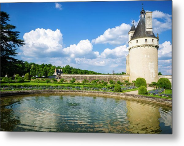 The Marques Tower And Fountain Metal Print